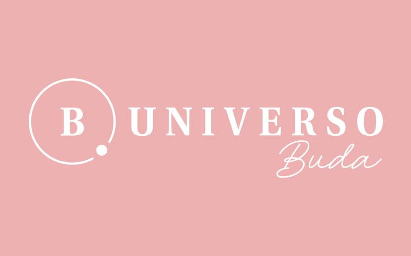 Logo fondo rosado - Universo Buda